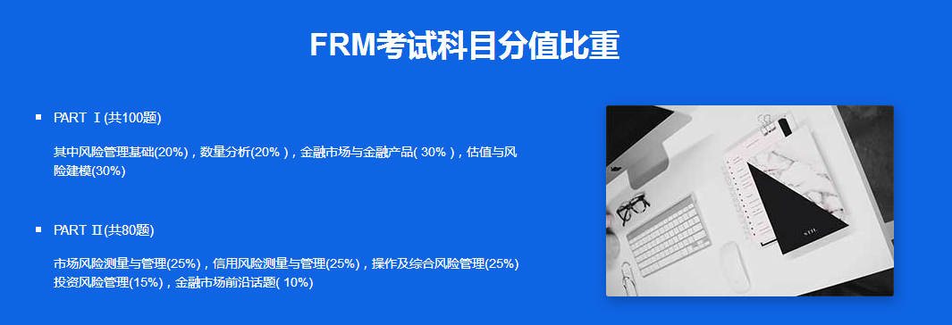 FRM考试科目